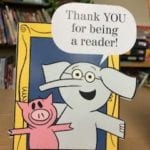 "picture of  cartoon animals saying ""Thank YOU for being a reader!"""