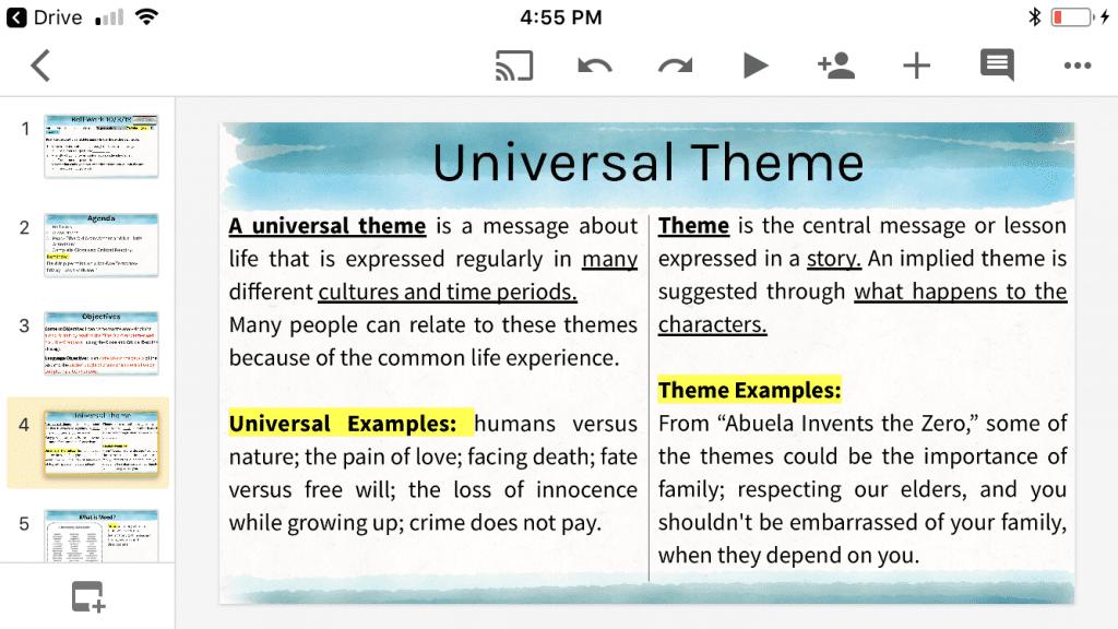 Mrs. Alhassan 8th Grade Language Arts – Dearborn Public ... Universal Themes In Literature Pdf