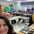 Art teachers are experimenting with art supplies.