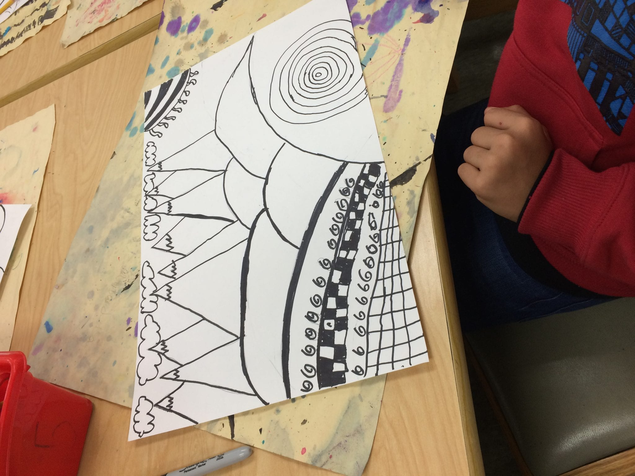 Different Types Of Lines In Art Drawing : Th zendoodle landscapes u art with ms bruce