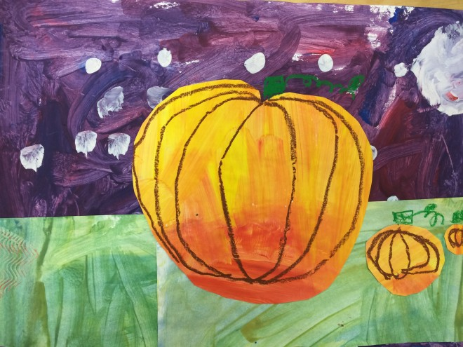 First Grade Secondary Color Pumpkin Collage