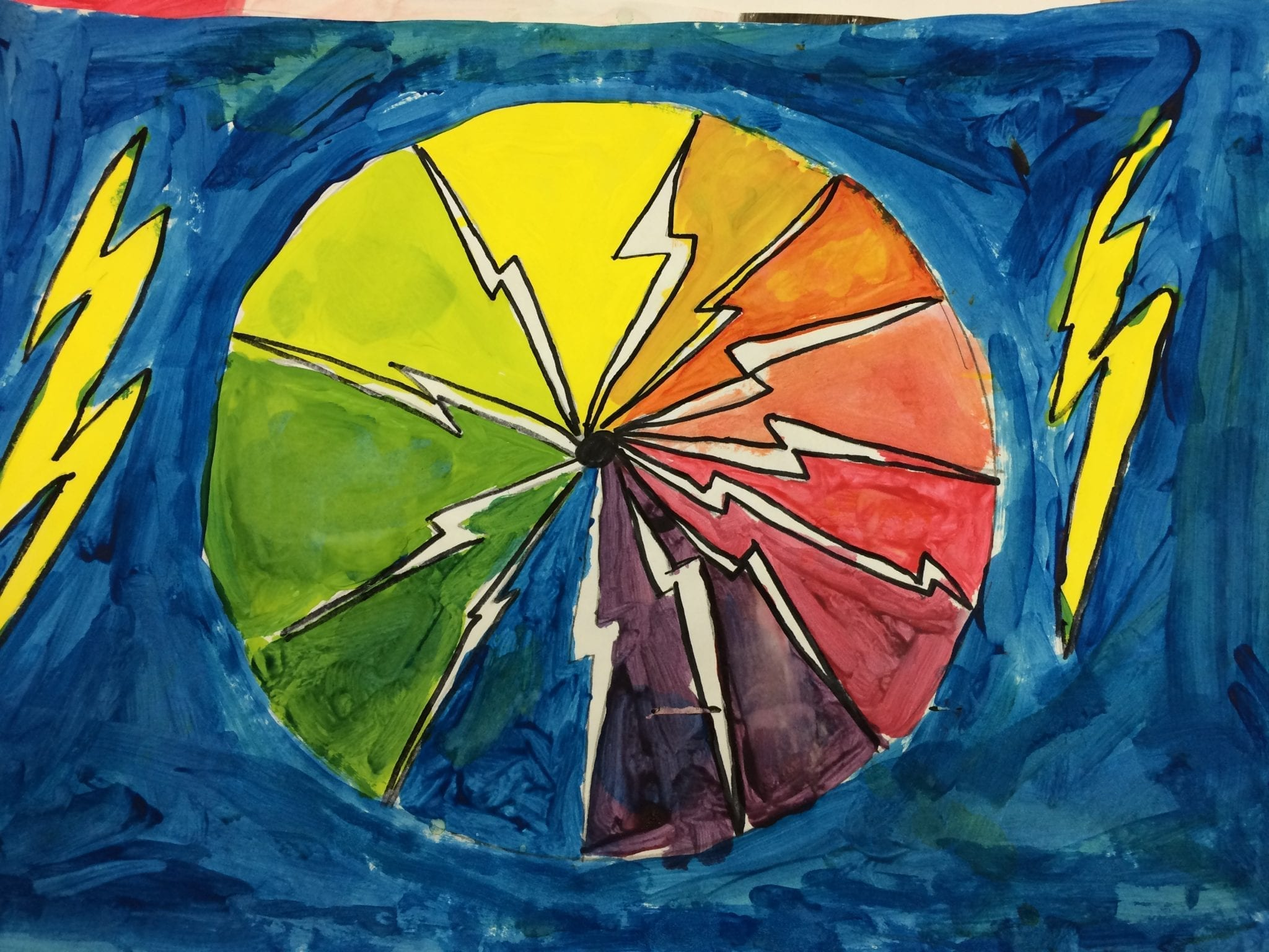 4th grade Creative Color Wheels – Art With Ms. Bruce