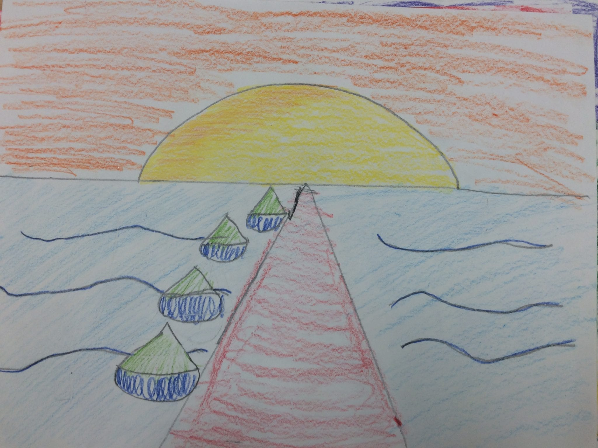 Line Art Grade 1 : Fourth grade point perspective art with ms bruce