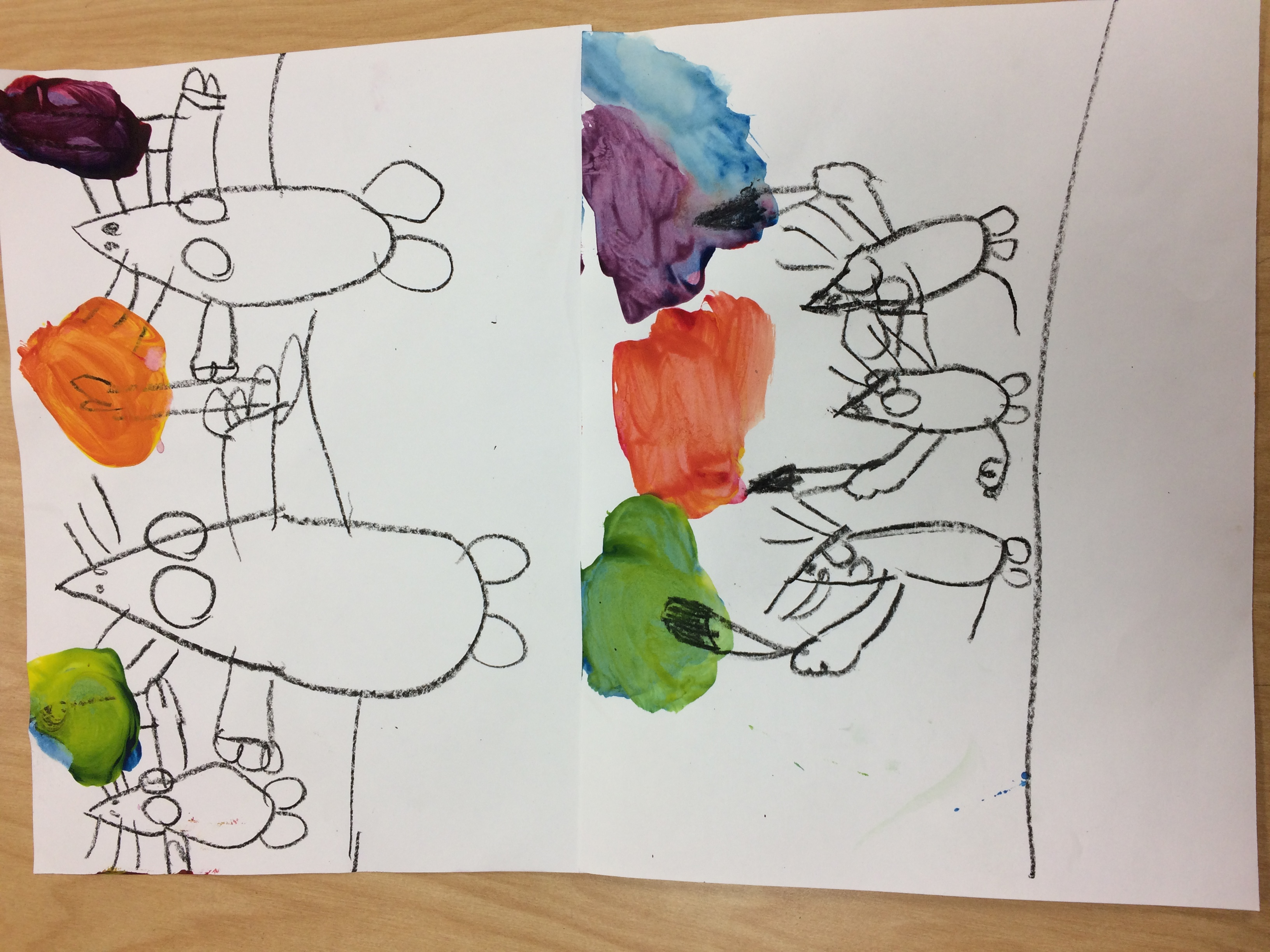 Kindergarten Primary Colors Art With Ms Bruce