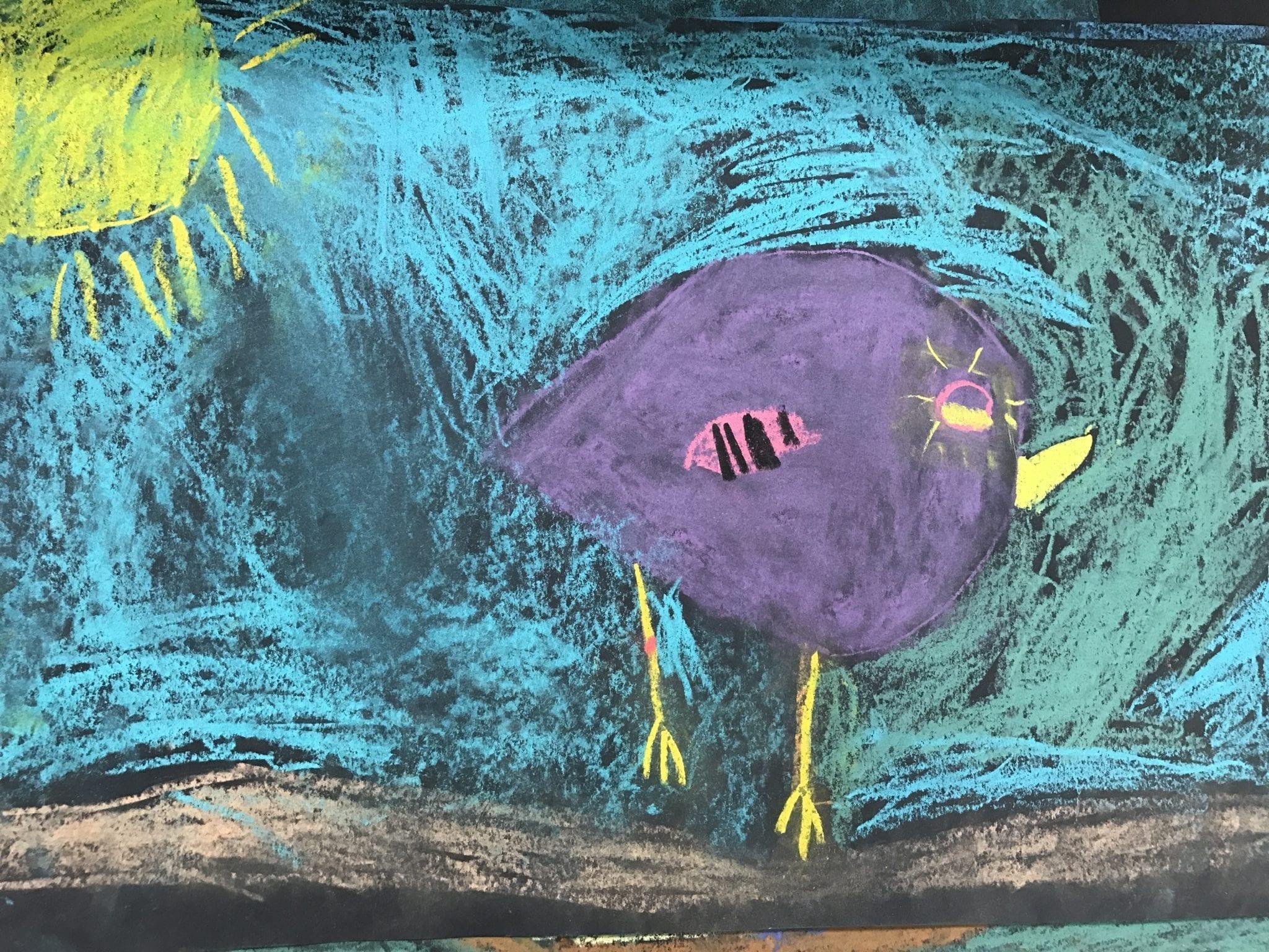 kindergarten chalk bird drawings u2013 art with ms bruce