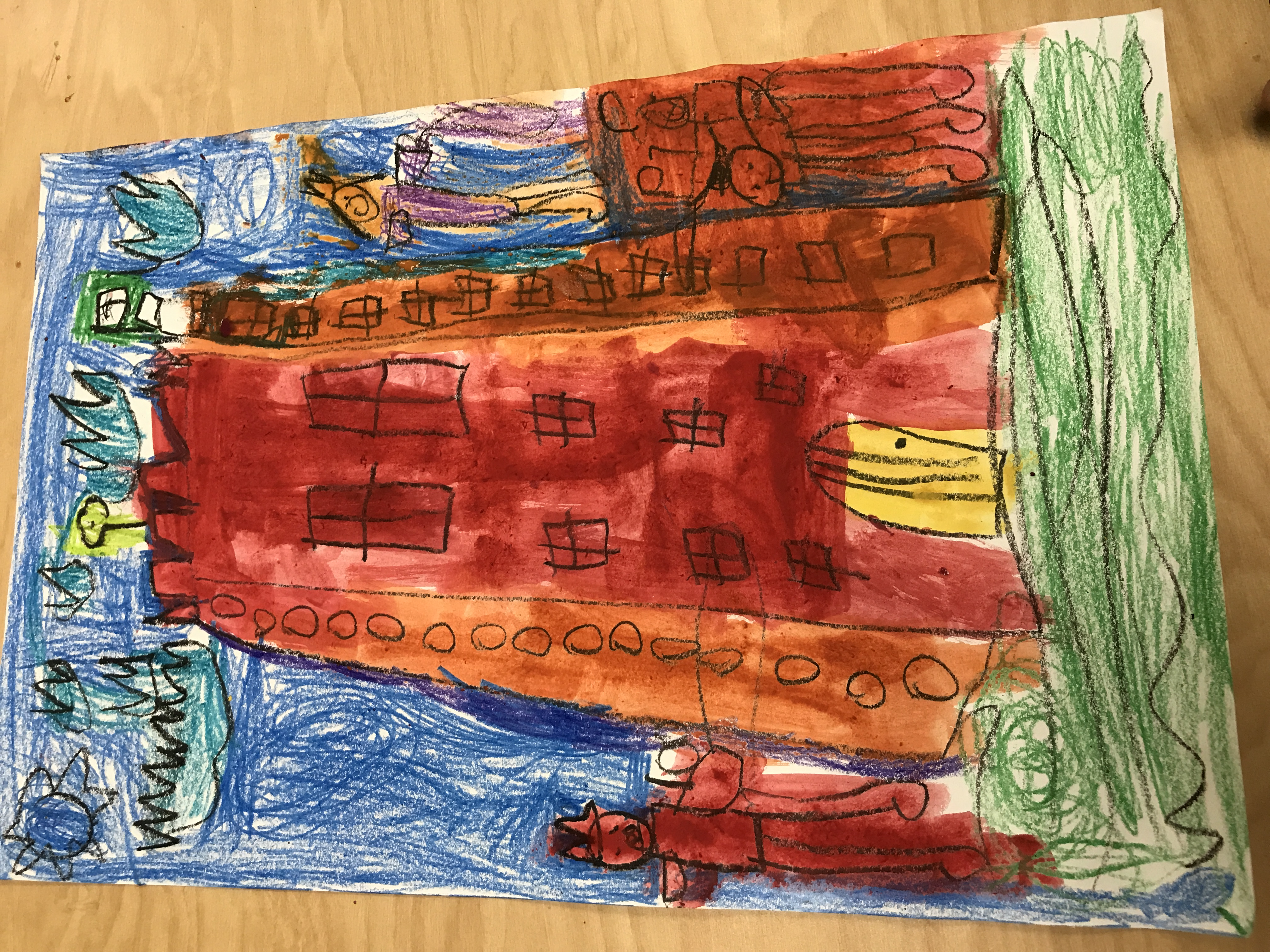 Kindergarten Warm and Cool Castles – Art With Ms. Bruce