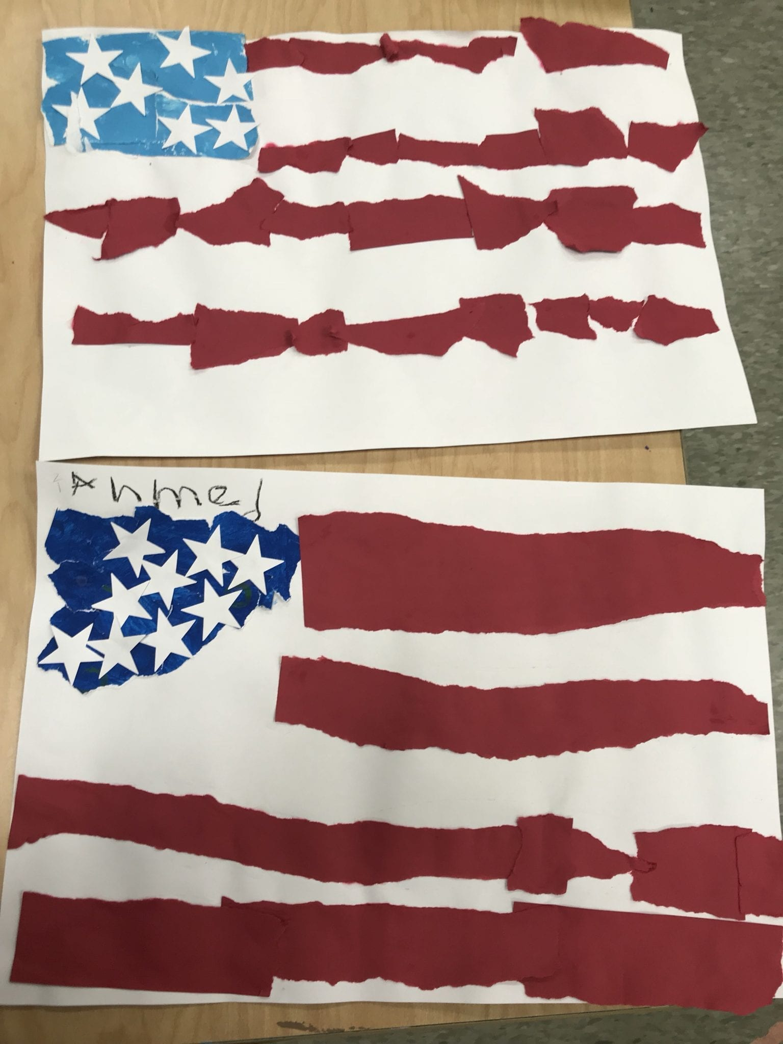 Kindergarten Usa Symbols Art With Ms Bruce