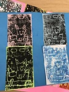 four fox prints