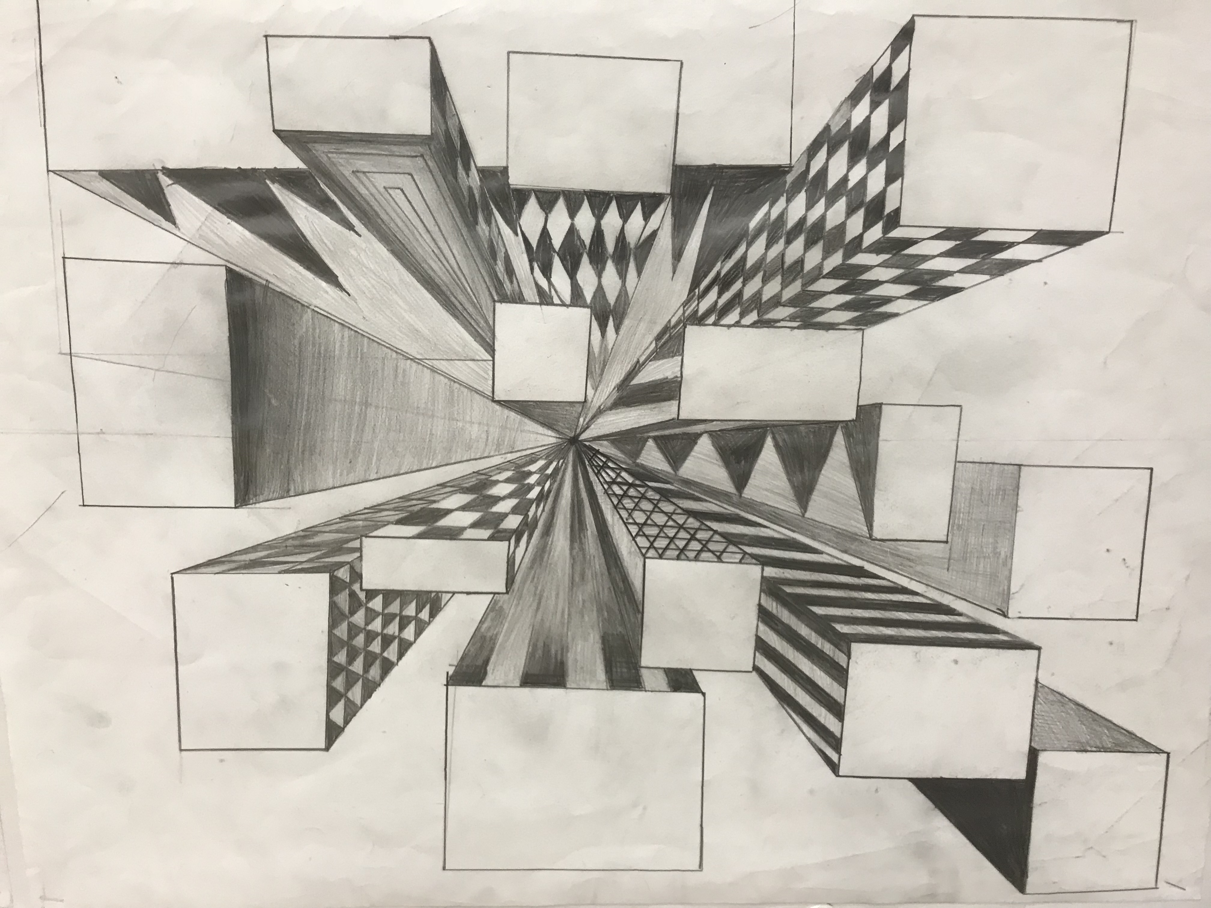 One Point Perspective: Cities!!