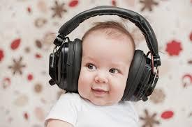 Baby with headphhones