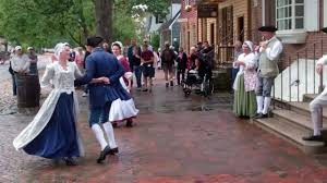 colonists dancing