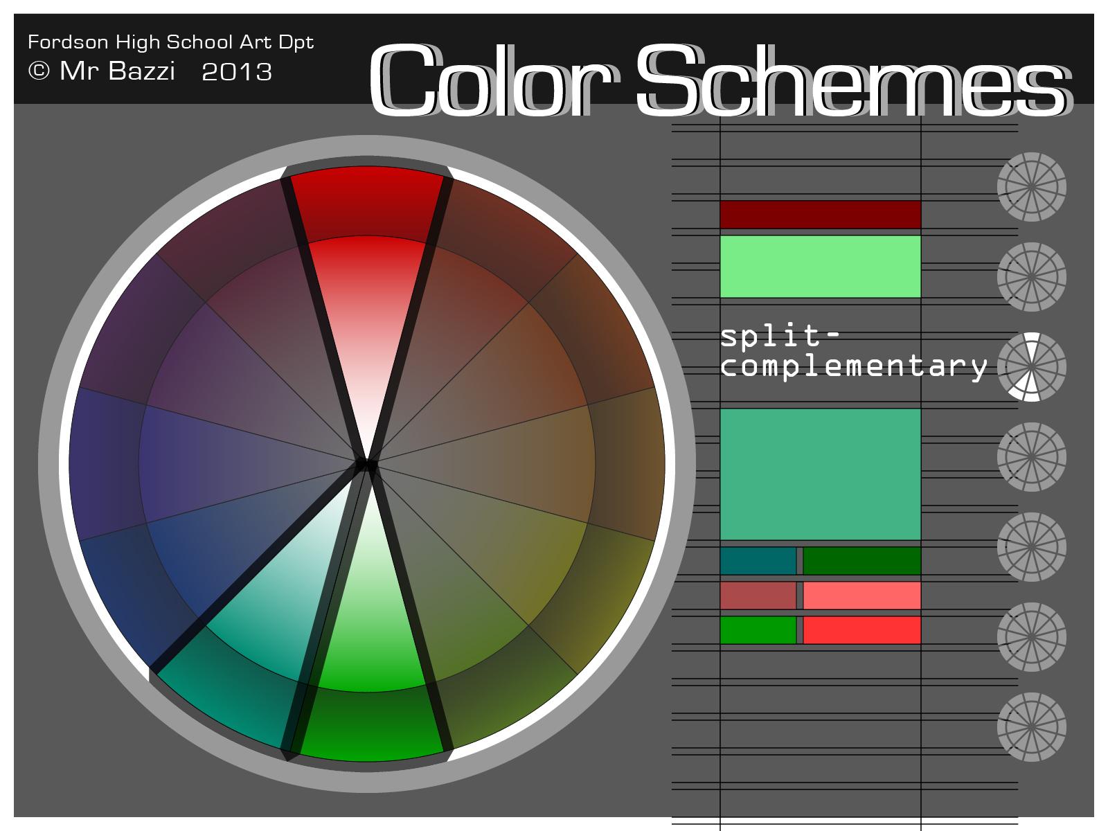 Color schemes bazzi art - Split complementary color scheme ...