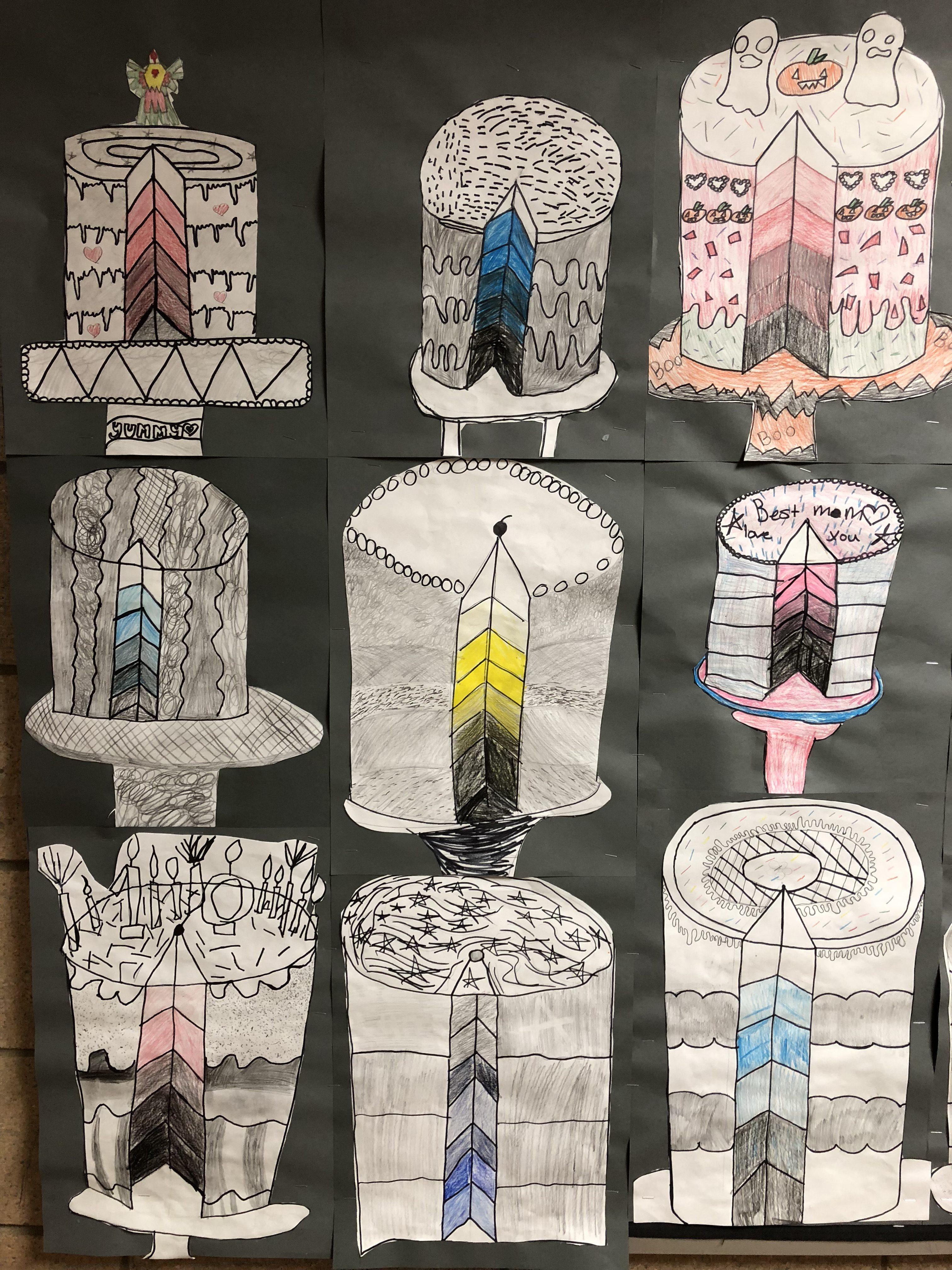 5th Grade Value Cakes Mrs Brown S Art Room