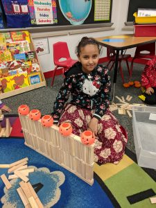 Student created pumpkin fence.