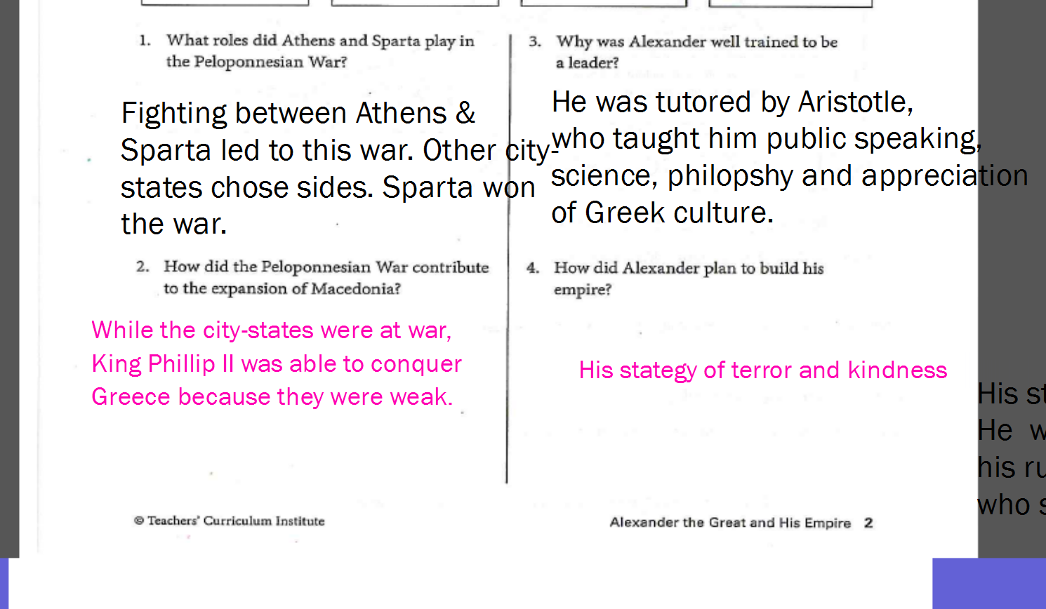 Maria Crechiolo Mrs Crechiolos Classroom Blog – Alexander the Great Worksheet