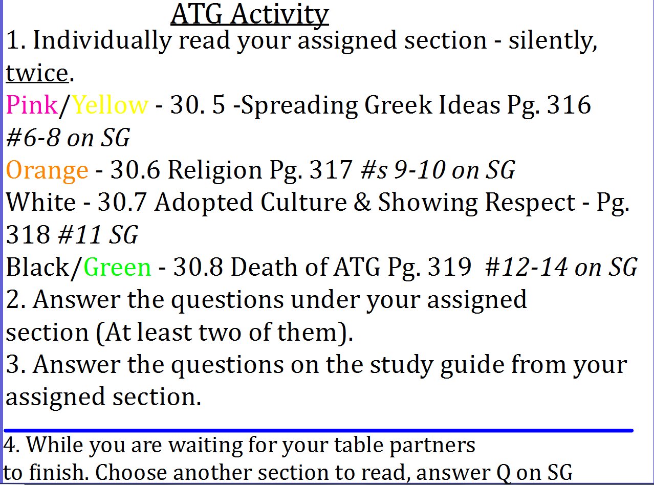 Worksheets Alexander The Great Worksheet mrs crechiolos classroom blog dearborn public schools page 4 homework 1 chapter 30 packet due monday 2 read your assigned section for atg face ws answer questions on study