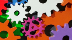 multi colored gears