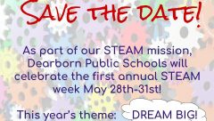 save the date flyer for steam week