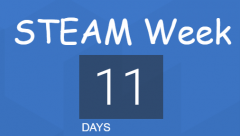 STEAM week countdown 11 days