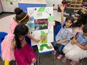 kindergarteners showing STEAM project