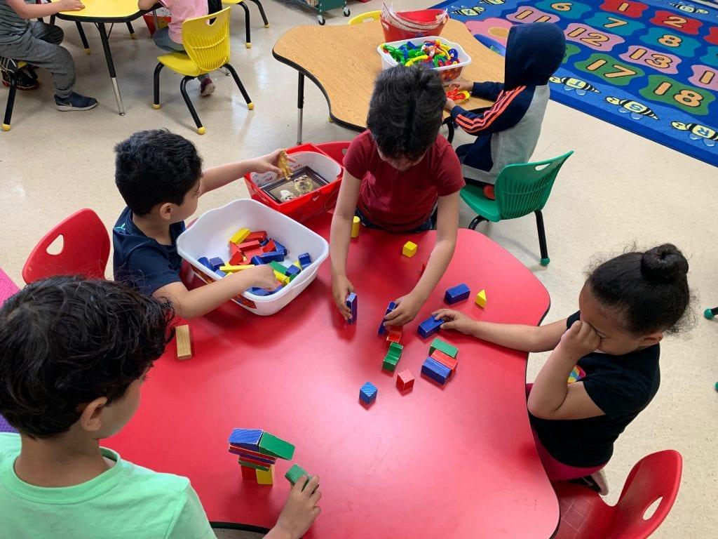 kids assembling
