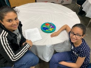 girls showing their cell model