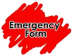 Image result for clipart emergency card