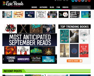 Epic Reads Homepage
