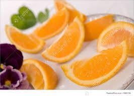 Orange Slices On Plate Image