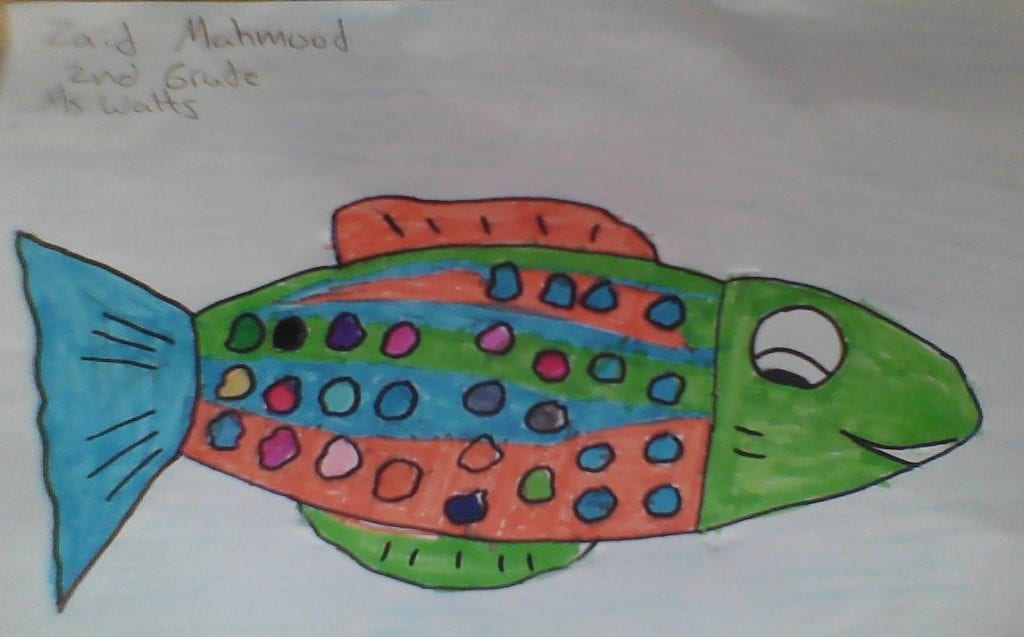 colorful fish with circles in the body