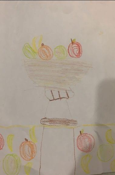 drawing of fruit bowl