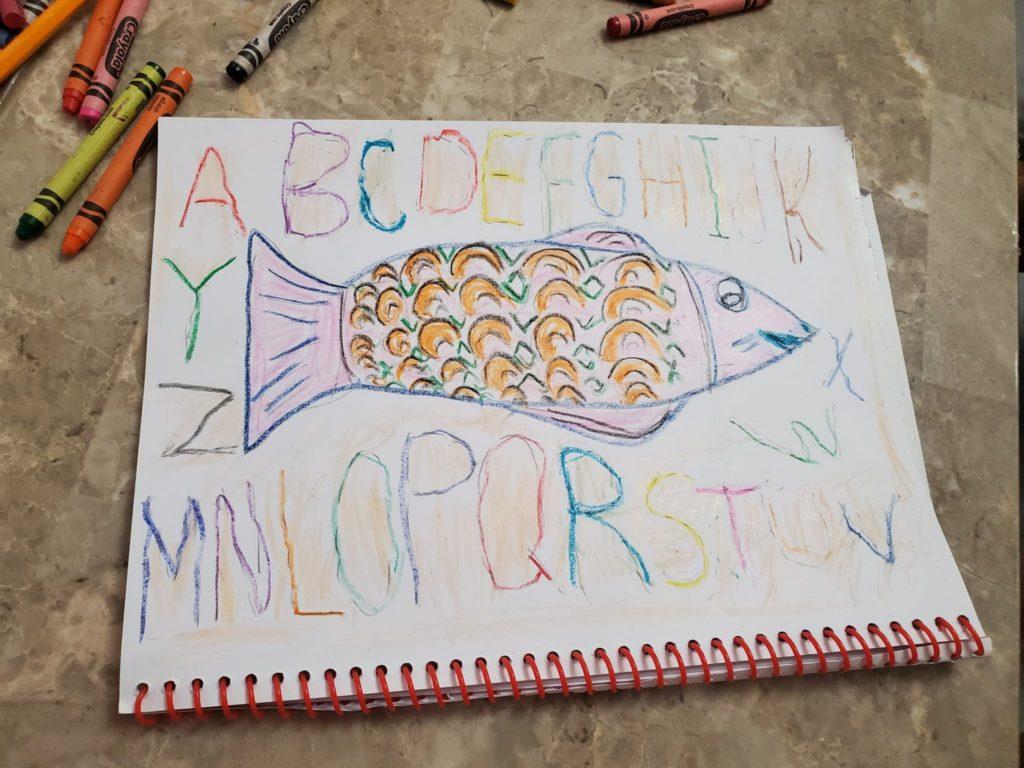 drawing of a fish