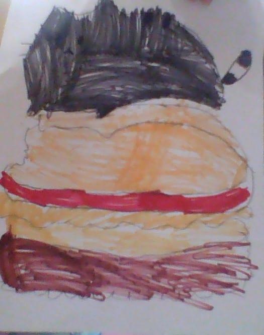 drawing of a handburger