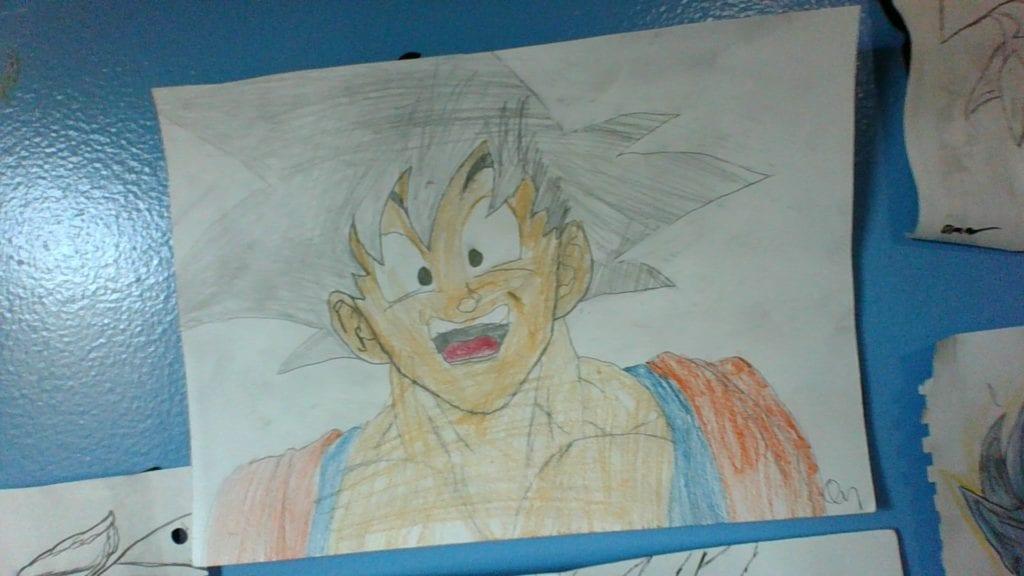 drawing of a DragonBallZ character