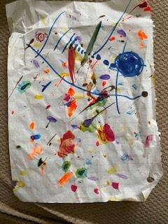 splatter painted paper