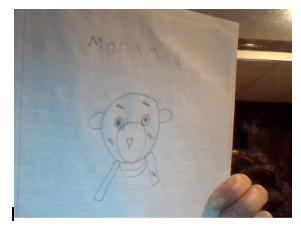pencil drawing of a stuffed bear