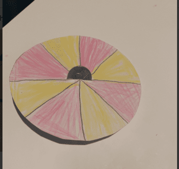 circle with a coin in the middle to make a spinner