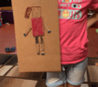 robot made out of cardboard
