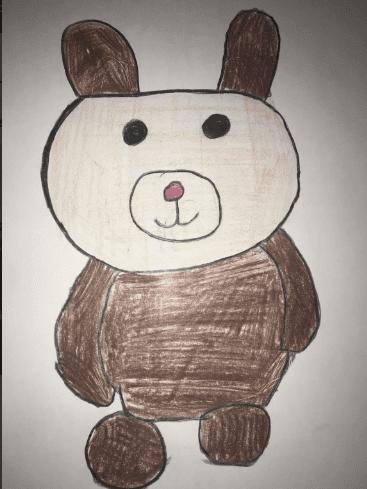 drawing of a teddy bear