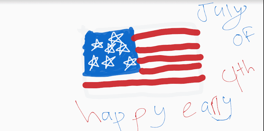 digital drawing of a USA flag