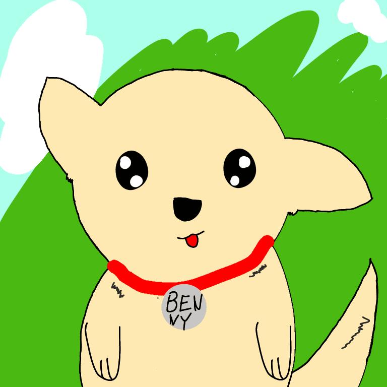 digital dog drawing