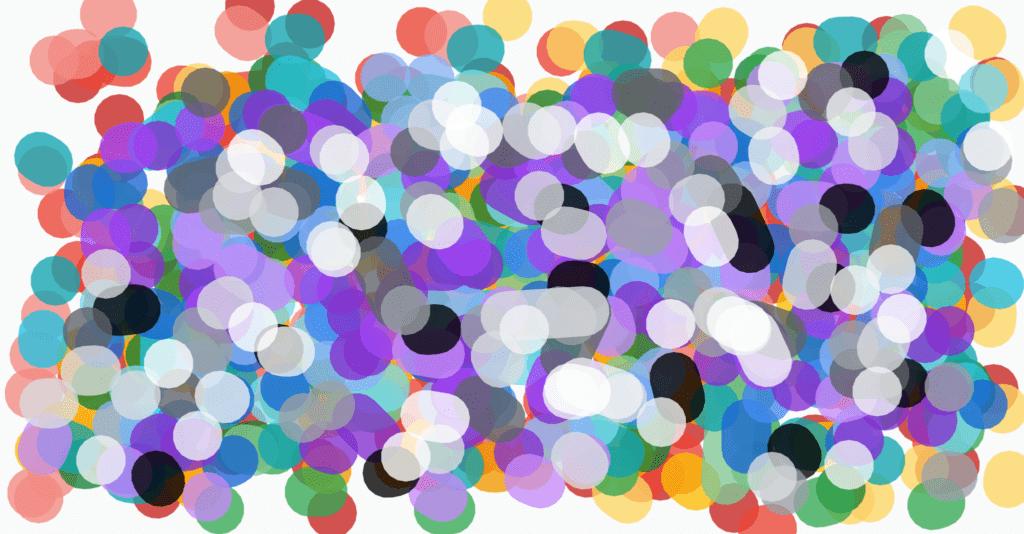 digital art of colorful dots