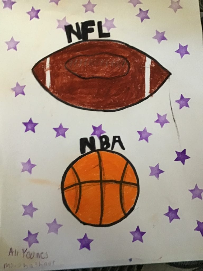 drawing of sports balls