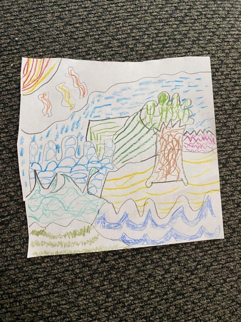 patterned landscape drawings
