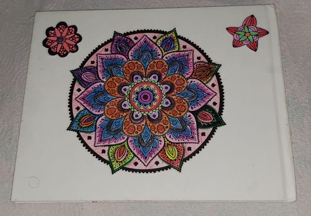 coloring page of a mandala