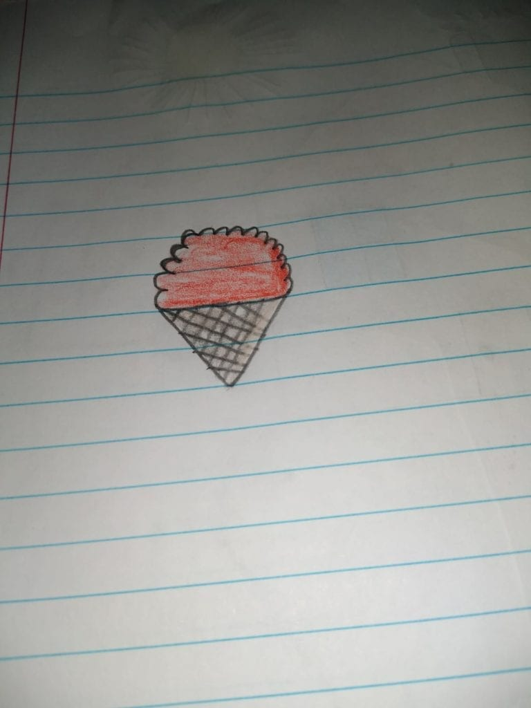 drawing of an icecream cone