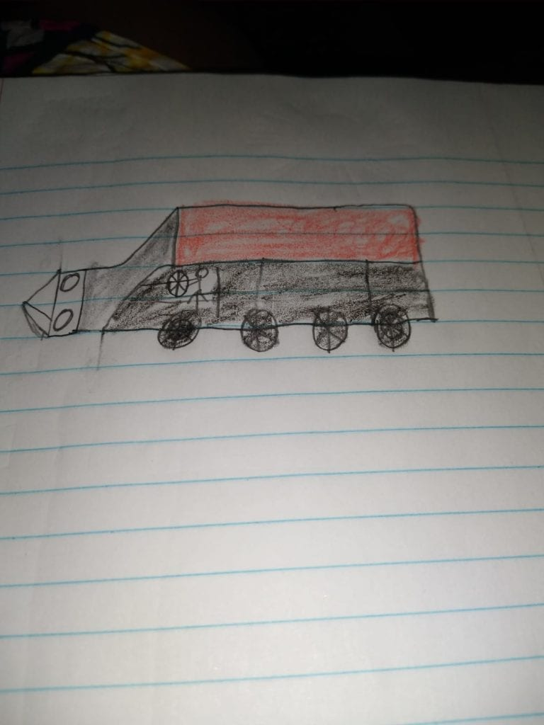 drawing of a truck