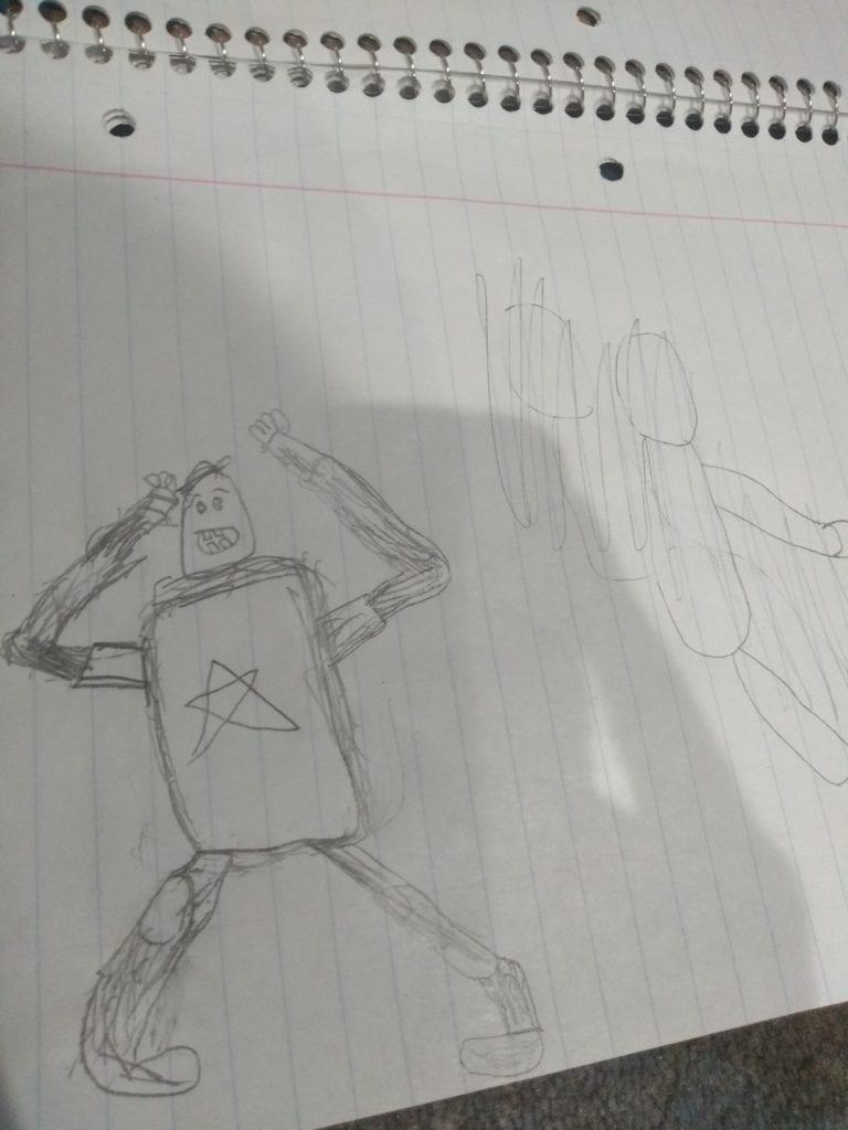 robot drawing