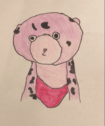 pink leopard drawing
