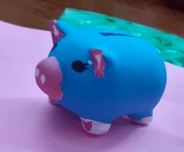 painted piggy bank